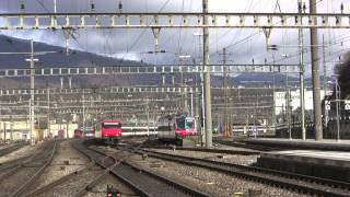 preview picture of video 'Trafic ferroviaire à Olten'