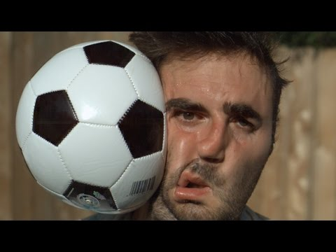 Watch A Soccer Ball Slam Into This Guy's Head In Super Slow Motion