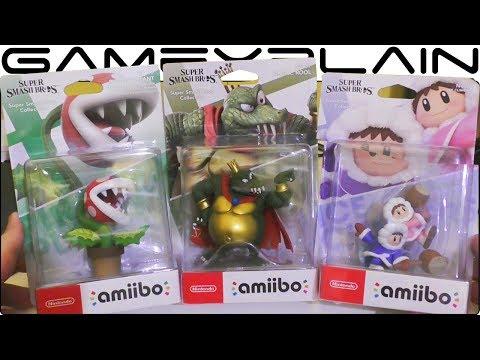 Super Smash Bros. Ultimate - Piranha Plant, King K. Rool & Ice Climbers amiibo UNBOXING