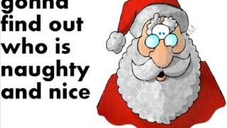 """Chipmunks singing """"Santa Claus Is Coming To Town"""" with Lyrics"""