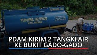 Kekeringan di Padang, PDAM Kirim Dua Tangki Air Bersih ke Bukit Gado-gado dan Seberang Pabayan