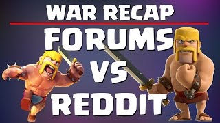 Clash of Clans: FIRST EVER FORUMS VS REDDIT WAR - WAR RECAP - 24 AWESOME ATTACKS! MUST WATCH!!!