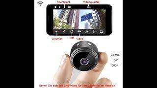 Microfire Mini Wlan Überwachungskamera Akku Infrarot Nachtsicht Dashcam Funktion Spy Spion Kamera