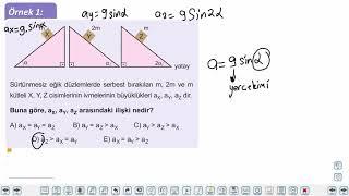 Eğitim Vadisi 11.Sınıf Fizik 5.Föy Newton'ın Hareket Yasaları 1 (Eğik Düzlemde İvmeli Hareket) Konu Anlatım Videoları