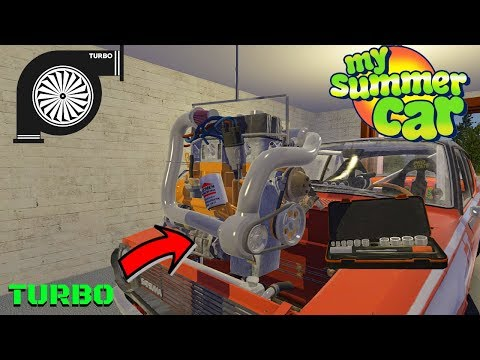 TURBO FOR SATSUMA + PARTS LOCATION + TEST - My Summer Car #166 (Mod)