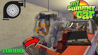 TURBO FOR SATSUMA + PARTS LOCATION + TEST - My Summer Car #166 (Mod)