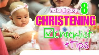 Christening/Baptism Checklist + Tips | What to Prepare & to Keep in Mind