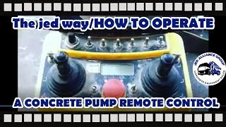 Learn to Operate a Schwing Boom Pump Remote Control | English & Spanish