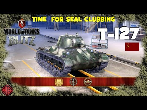 T-127  - gameplay with three easy Aces - WoT Blitz