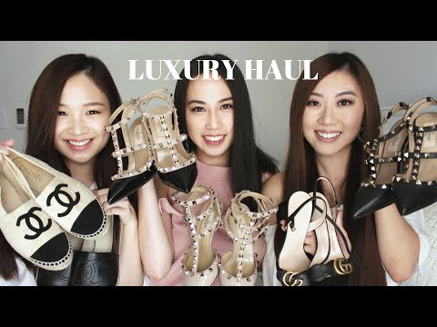 Luxury Shoe Haul (Valentino Rockstud, Chanel Espadrilles, Gucci Sandals) | PCC TV