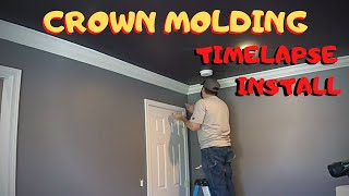 Installation Of 5-1/2 MDF Crown Moldings  -  The BIGGER The Crown Molding, The Better!
