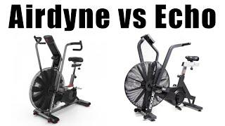 Schwinn Airdyne Pro vs Rogue Echo Bike - Side by Side Comparison