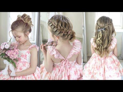 3 Cute & Easy Flower Girl Hairstyles by SweetHearts Hair