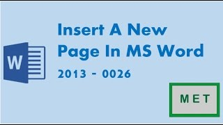 Insert A New Page In MS Word 2013 - 0026