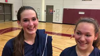 Volleyball Post-Game | Galloway | Soph. Katie Peddle & Maddy Estenson | 10-10-18