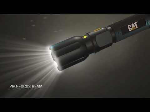 CAT uzlādējamais fokusēšanas taktiskais LED lukturītis ar powerbank CT2505
