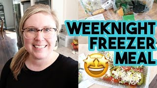 IS HOME CHEF CHEAPER THAN WALMART? 📦 MAKING FREEZER MEALS ON A WEEKNIGHT 🍝 WORKING MOM HAPPY HOUR!