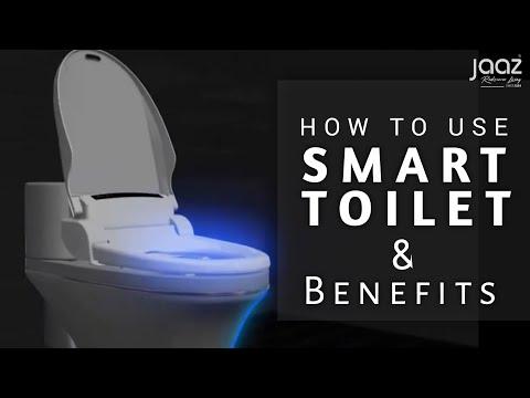 White Smart Toilet
