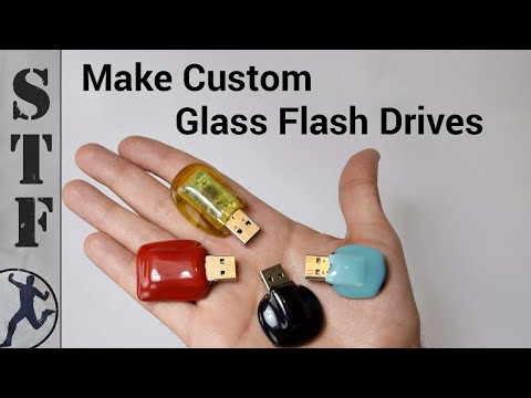 Make A Custom USB Flash Drive Out Of Glass With A Microwave Kiln
