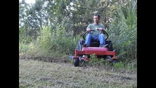 Mowing 6 Feet Tall Weeds with my Zero Turn