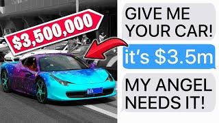 """r/EntitledParents   """"LET MY KID DRIVE YOUR $3,500,000 CAR!"""""""