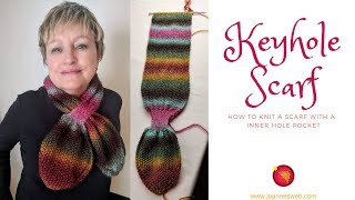 Knitted Keyhole Scarf - Knitting Cravate - Knit Bow Miss Marple Scarf