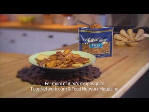 Chef Alex's Braised Maple & Pecan Parsnips