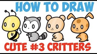 Image of: Kawaii Characters How To Draw Kawaii Animals Characters Cute Kawaii Step By Step Easy For Beginners And Ebay How To Draw Kawaii Animals Free Video Search Site Findclip