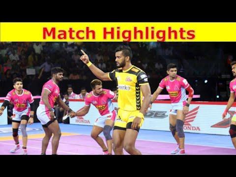 PKL 2019 Telugu Titan vs Jaipur pink Panther full match highlights Pro Kabaddi 2019 highlights
