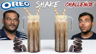 OREO MILKSHAKE CHALLENGE   Oreo Biscuits Thick Shake Competition   Food Challenge