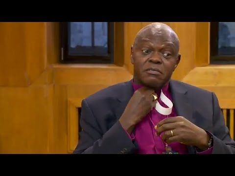 WATCH: John Sentamu putting his collar back together on Andrew Marr Show