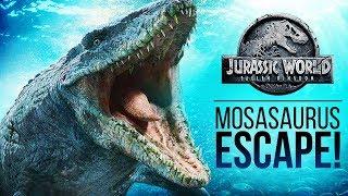How Does The Mosasaurus Escape?   Jurassic World: Fallen Kingdom Mosasaurus Theory