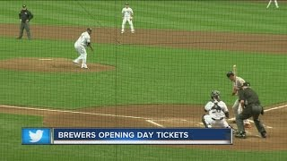 Milwaukee Brewers opening day ticket opportunity begins Wednesday