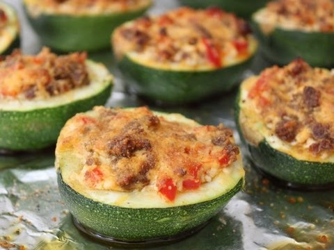 Sausage Stuffed Squash – Merguez Sausage and Goat Cheese Stuffed Summer Squash