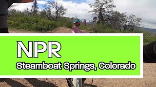 First time riding NPR in Steamboat Springs.