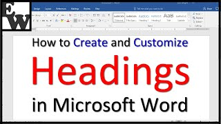 How to Create and Customize Headings in Microsoft Word