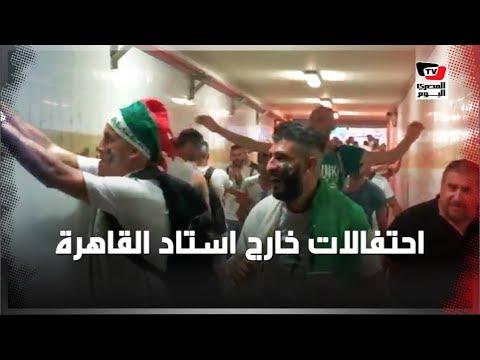 الجماهير الجزائرية تحتفل خارج ستاد القاهرة بعد التتويج ببطولة أمم أفريقيا