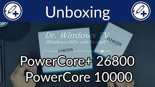 Anker PowerCore+ 26800 und PowerCore 10000 - Unboxing und Erfahrung