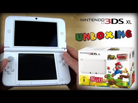 Nintendo 3DS XL Weiss / White - Unboxing / First Look - Super Mario 3D Land Bundle