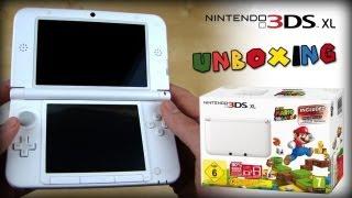 Nintendo3DSXLWeiss/White-Unboxing/FirstLook-SuperMario3DLandBundle