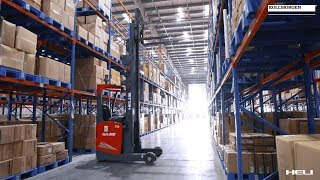 High Reach AGV in 3PL Warehouse