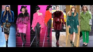 Модные цветные шубы // Colored coats