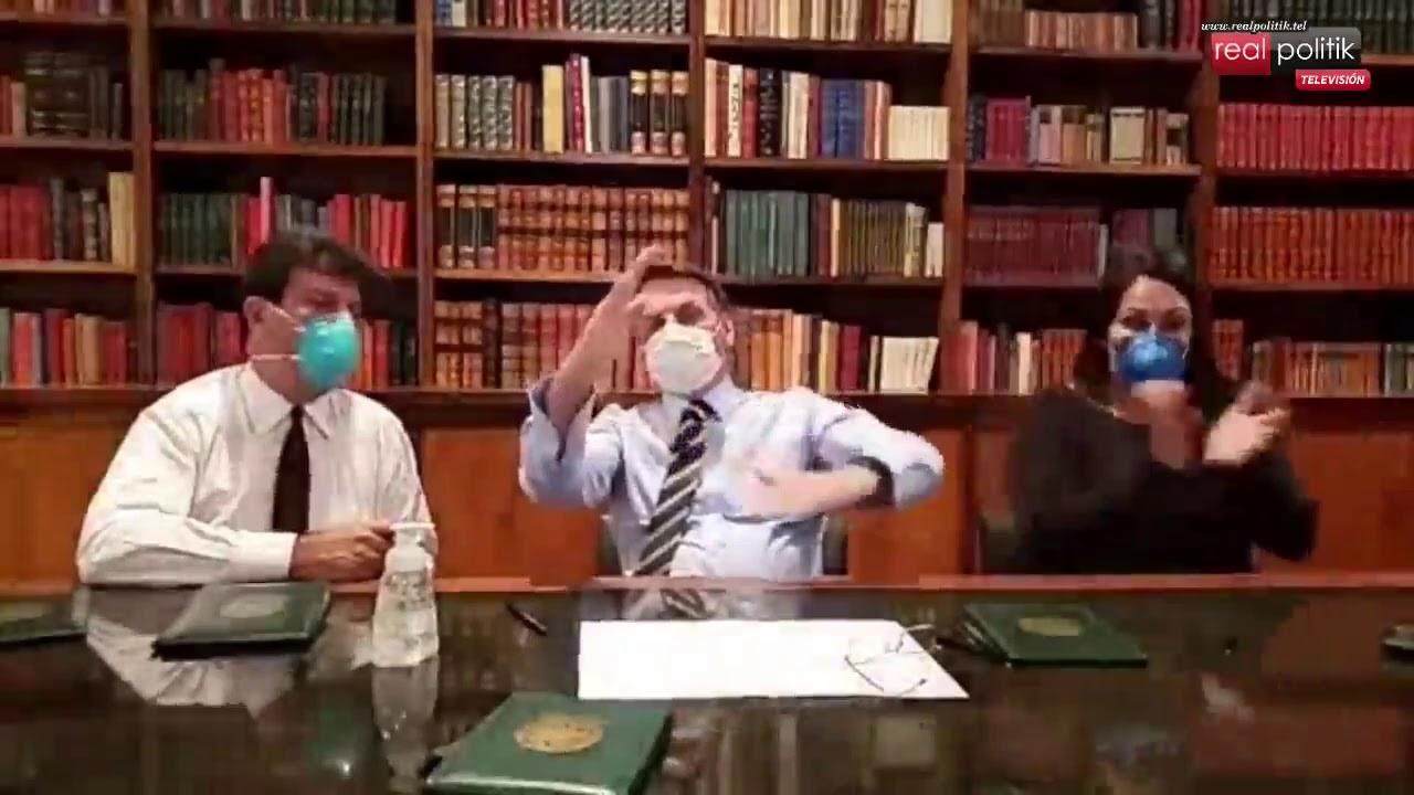 Brasil: Jair Bolsonaro apareció con barbijo y se desconoce si tiene coronavirus