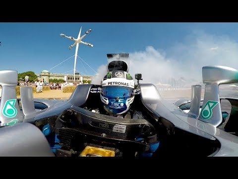 Epic F1 Donuts & Burnouts Onboard at Goodwood!