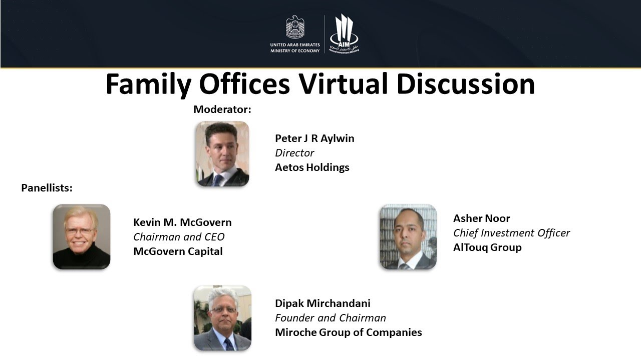 AIM Digital: Family Offices Virtual Discussion