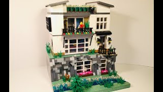 Lego Modern Cliff House MOC!!! (3 FLOORS) TD BRICKS MOC Contest Entry!