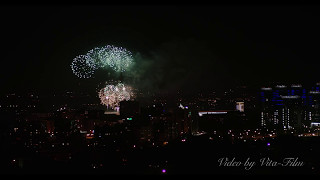 Салют Победы 2017 в Алматы (Праздничный салют в Алматы 4К)