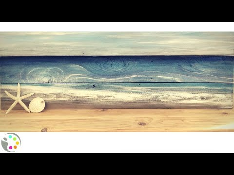 DIY Beach Painting on Wood | Tutorial