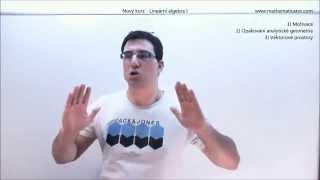 Lineární algebra I - nový kurz k dispozici