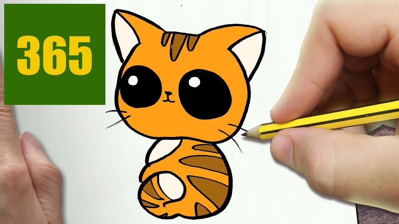 Video Comment Dessiner Chat Kawaii Etape Par Etape Dessins Kawaii